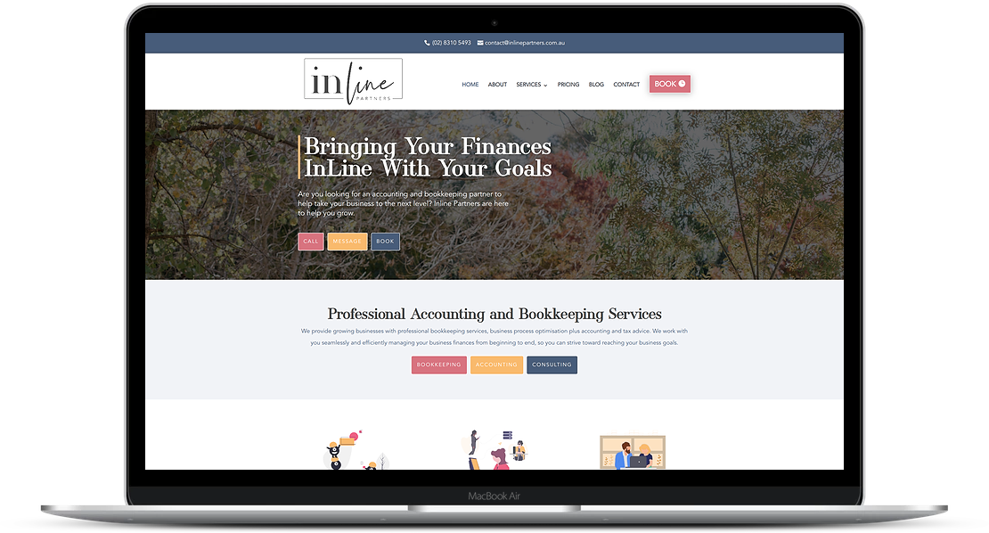 Website Designs for bookkeepers, Website Project, The Savvy Bookkeeper